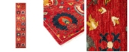 """Timeless Rug Designs CLOSEOUT! One of a Kind OOAK1344 Red 2'7"""" x 12'1"""" Runner Rug"""