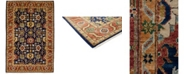 """Timeless Rug Designs CLOSEOUT! One of a Kind OOAK3811 Navy 6'1"""" x 9' Area Rug"""