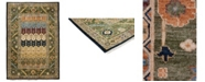 Timeless Rug Designs CLOSEOUT! One of a Kind OOAK3754 Olive 6' x 9' Area Rug