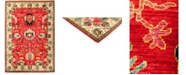 """Timeless Rug Designs CLOSEOUT! One of a Kind OOAK2906 Red 6'4"""" x 9'1"""" Area Rug"""