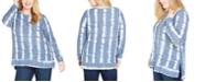Jessica Simpson Trendy Plus Size Sky Side-Slit Top