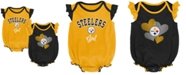 Outerstuff Baby Pittsburgh Steelers Celebration Bodysuit Set