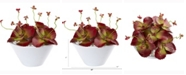 Nearly Natural 10in. Succulent Artificial Plant in White Bowl