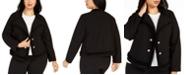 Calvin Klein Plus Size Textured Knit Jacket