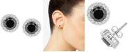 Wrapped in Love Diamond Halo Stud Earrings (2 ct. t.w.) in 14k White Gold, Created for Macy's