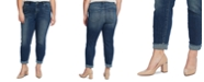 CeCe Plus Size 5 Pocket Jean with Polkadot Cuff