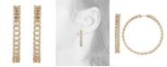 Serena Williams Jewelry Diamond (3/4 ct. t.w.) Link Medium Hoop Earrings in 14K Yellow Gold