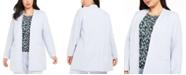 Calvin Klein Plus Size Open-Front Topper Jacket