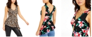Thalia Sodi Floral-Print Necklace Tank Top, Created for Macy's