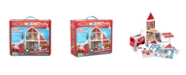 Melissa and Doug Melissa Doug 74-Piece MAGNETIVITY Magnetic Building Play Set – Fire Station with Fire Truck Vehicle 13 Panels, 55 Accessory Magnets