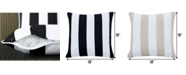 Ornavo Home Water Resistant Indoor or Outdoor Square Patio Stripe Throw Pillow - Set of 2