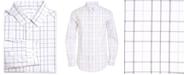 Calvin Klein Big Boys Stretch Plaid Dress Shirt