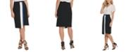 DKNY Colorblock Asymmetric Pencil Skirt