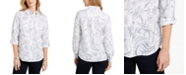 Charter Club Artful Paisleys Printed Linen-Blend Shirt, Created for Macy's