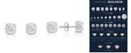 TruMiracle Diamond (1 1/4 ct. t.w.) Stud Earrings in 14k White Gold