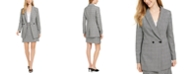 Calvin Klein X-Fit Slim-Fit Houndstooth-Plaid Jacket, Camisole & Houndstooth-Plaid Skirt
