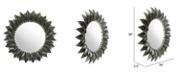 Zuo Leaf Round Mirror Black