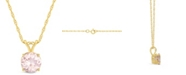 Macy's Morganite (1-1/4 ct. t.w.) Pendant Necklace in 14K Yellow Gold