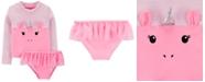 Carter's Toddler Girls 2-Pc. Unicorn Tutu Swimsuit