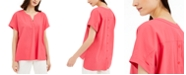 Alfani Split-Neck Top, Created for Macy's