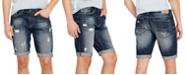 Buffalo David Bitton Men's PARKER-X Slim-Fit Ripped Denim Shorts