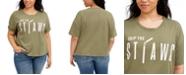 Love Tribe Trendy Plus Size Skip The Straws T-Shirt