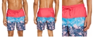 "Club Room Men's Tri-Color Floral 7"" Swim Trunks, Created for Macy's"