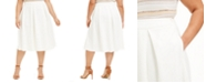 Calvin Klein Plus Size Pleated Scuba Midi Skirt