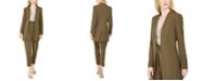Calvin Klein Open-Front Jacket, Printed Sleeveless Top & Pleated Slim-Leg Pants