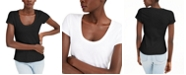 INC International Concepts INC The Basic Scoop T-Shirt, Created for Macy's