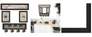 Trendy Decor 4U Trendy Decor 4U Kitchen Collection VI 4-Piece Vignette with 7-Peg Mug Rack by Millwork Engineering Collection