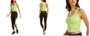 Calvin Klein Mixed-Media Cropped Tank Top & High-Waist Leggings