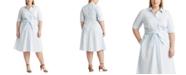 Lauren Ralph Lauren Plus-Size Pinstripe Cotton Shirtdress