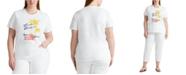 Lauren Ralph Lauren Plus Size Tropical-Inspired Top