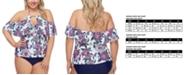 Raisins Curve Trendy Plus Size Wild Romance Shea Tankini Top