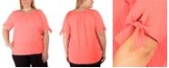 NY Collection Women's Plus Size Raglan Blouse