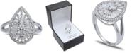 Macy's Cubic Zirconia Teardrop Statement Ring in Sterling Silver