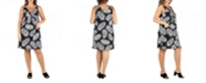 24seven Comfort Apparel Women's Plus Size Sleeveless Mini Dress