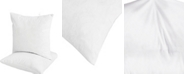 UNIKOME 2-Pack Feather & Down Pillow Inserts, 20x20 Square