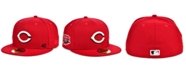 New Era Men's Cincinnati Reds Jackie Robinson 50th Patch 59FIFTY-FITTED Cap