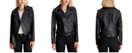 Michael Kors Belted Leather Moto Jacket, Created for Macy's