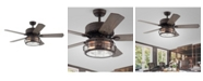"""Home Accessories Bobet 52"""" 2-Light Indoor Remote Controlled Ceiling Fan with Light Kit"""