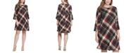 Jessica Howard Plus Size Plaid A-Line Dress