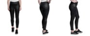 Seven7 High-Rise Faux-Snakeskin Skinny Jeans
