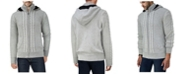 X-Ray  Men's Hooded Full-Zip High Neck Sweater Jacket
