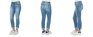 Democracy Women's Mid-Rise AB Solution Girlfriend Jeans