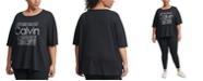 Calvin Klein Plus Size Graphic-Print Top