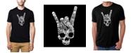 LA Pop Art Men's Premium Word Art Heavy Metal Genres T-shirt