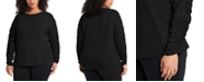1.STATE Trendy Plus Size Ruched-Sleeve Top