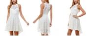 City Studios Juniors' High-Low Lace Fit & Flare Dress